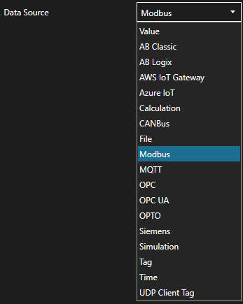 Data Source Modbus