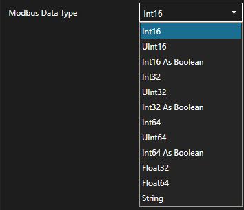 Modbus Data Type