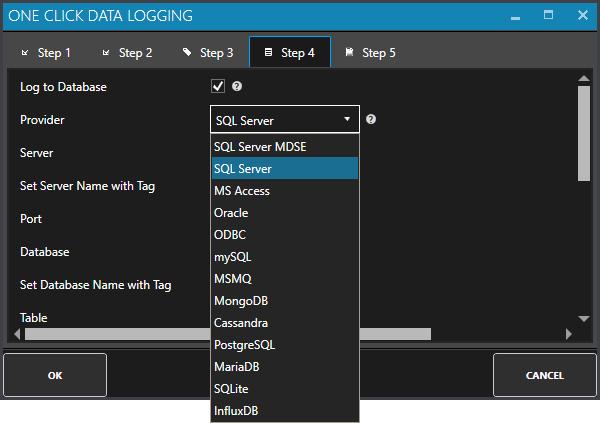 One Click Data Logging Step 4