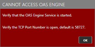 Cannot Access OAS