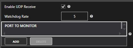 UDP Receive Configuration