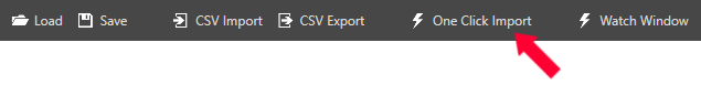 One Click Import Button