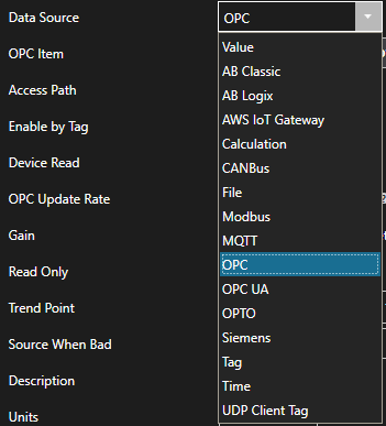 Getting Started OPC Data Source