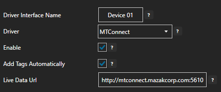 MTConnect Driver Interface