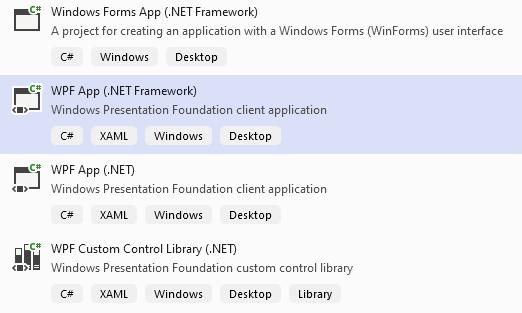 WPF App (>NET Framework)